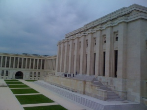 Palais des Nations - the main UN building in Geneva where Syrian peace talks currently are taking place.
